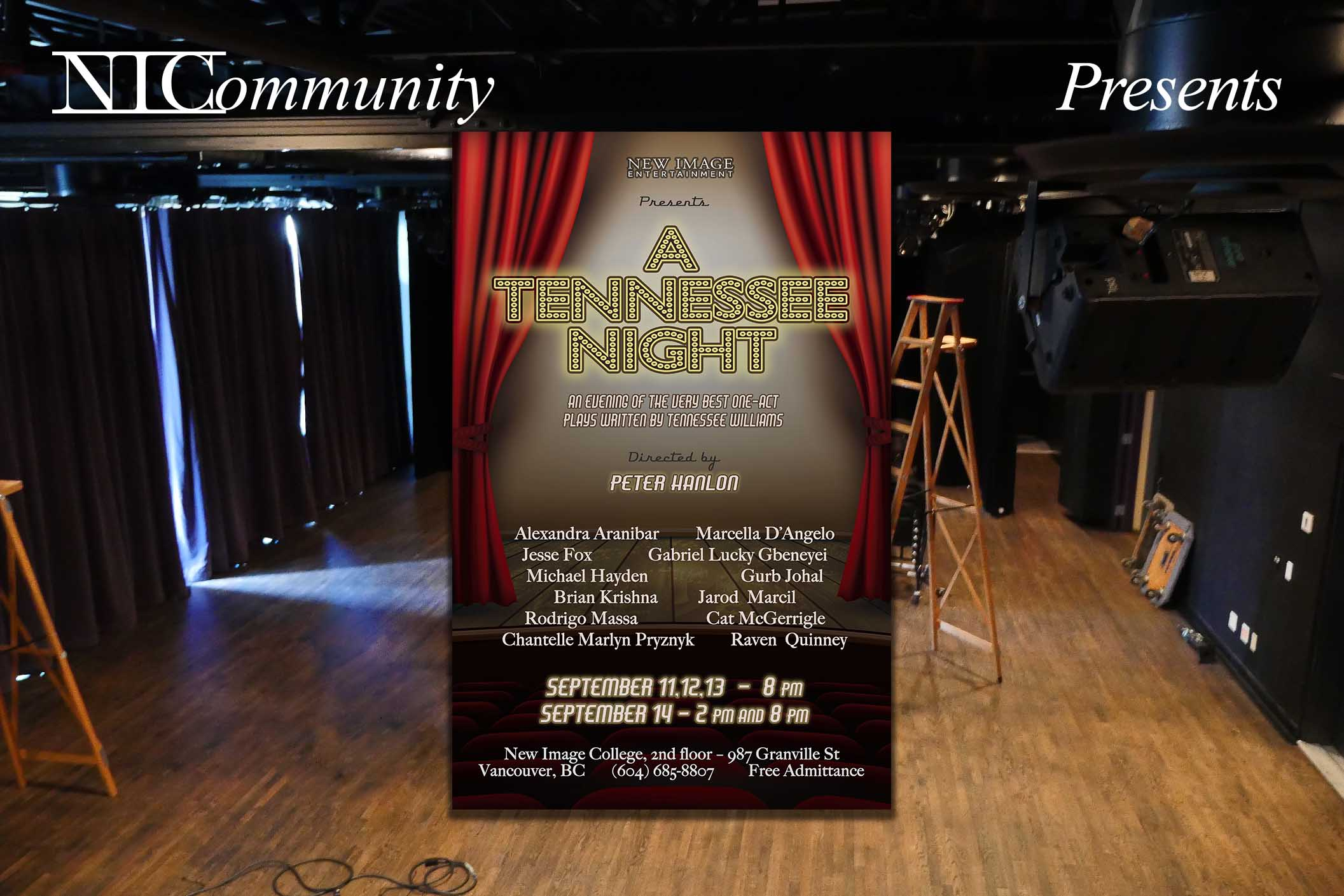 """NIC Play – Presents """"A Tennessee Night"""" by Tennessee Williams"""
