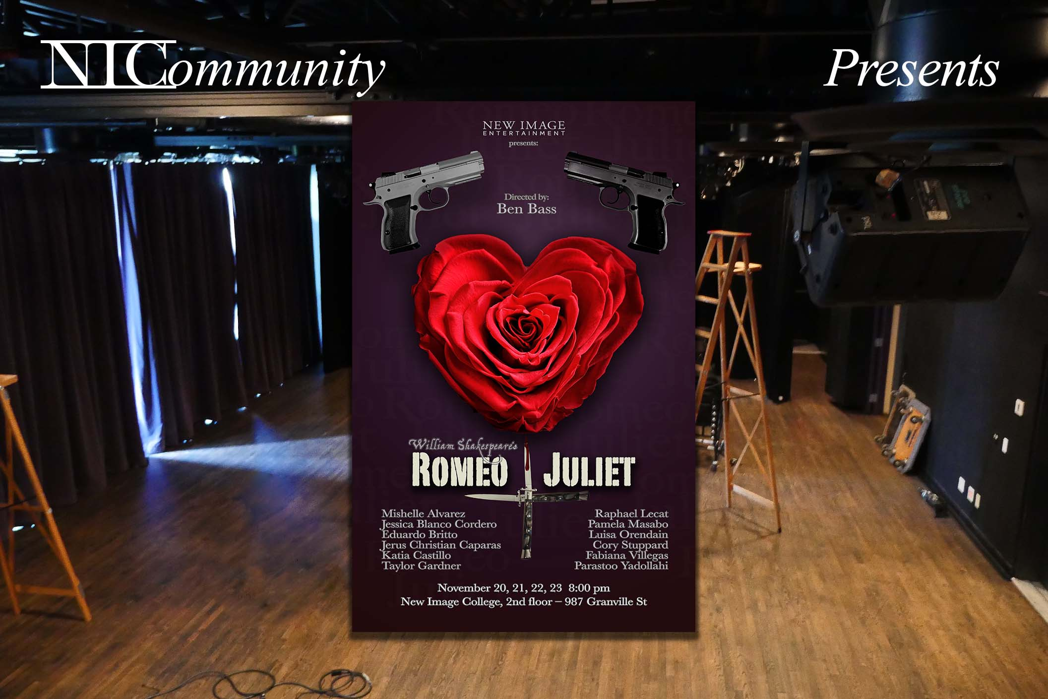 """NIC Plays presents """"Romeo+Juliet"""" by William Shakespeare"""