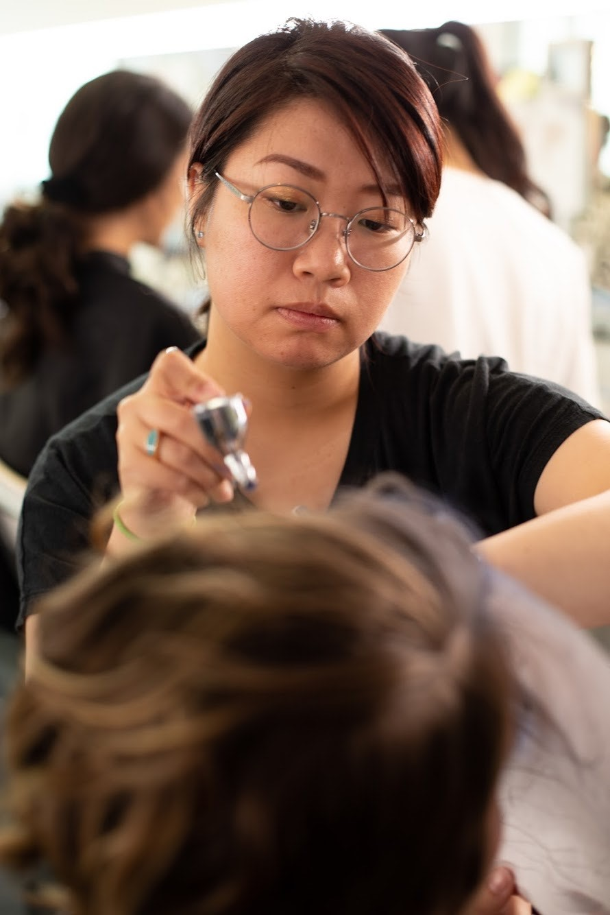 International Makeup Grad Sakura Oyama Working